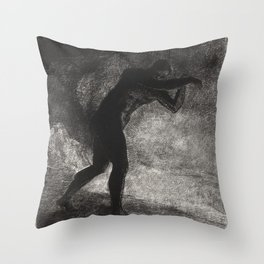 And Man Appeared Questioning the Earth Throw Pillow