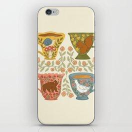 Floral Animal Teacups iPhone Skin