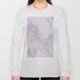 Marble Love Purple Metallic Long Sleeve T-shirt
