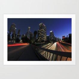 Los Angeles Nights Art Print