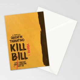 Kill Bill, Quentin Tarantino, minimal movie poster,  Uma Thurman, Lucy Liu, alternative film Stationery Cards