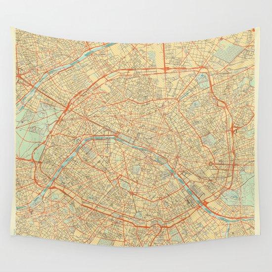 Paris Map Retro by hubertroguski