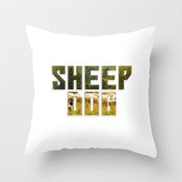 sheep dog Throw Pillow