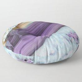Purple Agate Slice Floor Pillow
