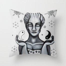 Ice Queen Throw Pillow