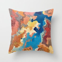 orange clouds Throw Pillow