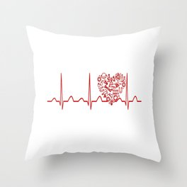 Physics Teacher Heartbeat Throw Pillow