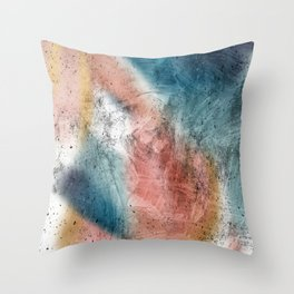 Seascape sunrise colors Throw Pillow