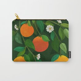 Oranges and Blossoms / Botanical Illustration Carry-All Pouch