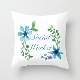 Social Worker For Women Social Worker Gifts Throw Pillow