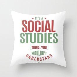 Social Studies Throw Pillow
