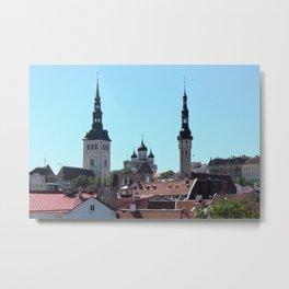 Old Tallinn Skyline Metal Print