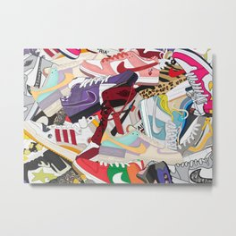 Sneakers 30 Metal Print