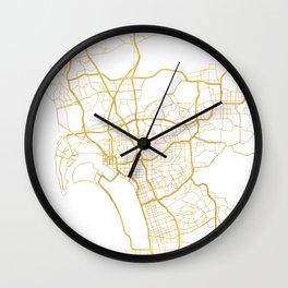 SAN DIEGO CALIFORNIA CITY STREET MAP ART Wall Clock