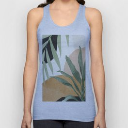 Abstract Art Tropical Leaves 4 Unisex Tank Top
