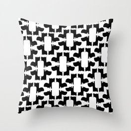 Scottie Dog Hex Pattern Throw Pillow
