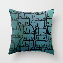 Something with turquoise Throw Pillow