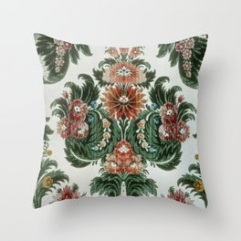 Bouquet Floral Wallpaper Throw Pillow