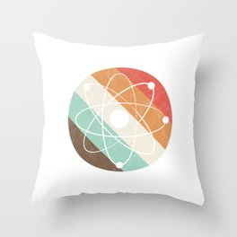 Proton Particles Science Physics Geeks Nerds Vintage Atom Gift Throw Pillow