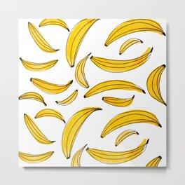 Watercolor bananas - yellow Metal Print