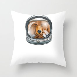 I Need More Space Astronaut Bear Outserspace Science Geek Throw Pillow