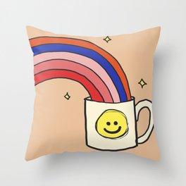 Cup of Joy Throw Pillow