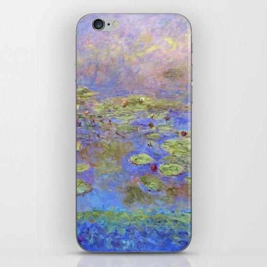 Water Lillies - Claude Monet (indigo blue) by dejavustudio