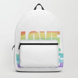 Love Wins Gay Lesbian Rainbow CSD Gift Backpack