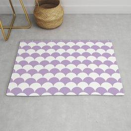 Lavender Fan Shell Pattern Rug