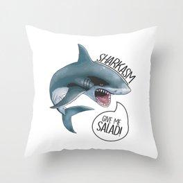 Sharkasm 101 Throw Pillow