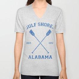 Gulf Shores Alabama Vacation Unisex V-Neck