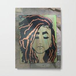 Goddess with Locs Metal Print