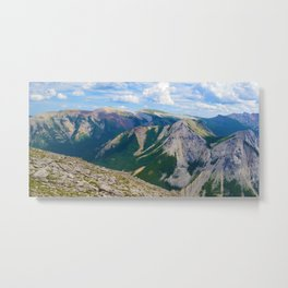 Views from the top of Sulphur Skyline in Jasper National Park, Canada Metal Print