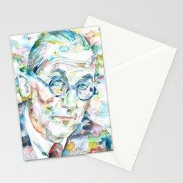LE CORBUSIER - watercolor portrait Stationery Cards