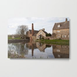 The old mill house Metal Print
