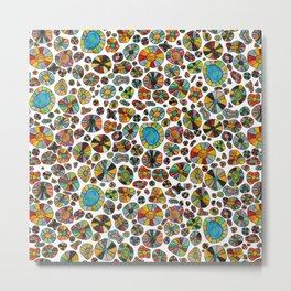 Barca Dots Pattern multicolor Metal Print