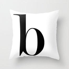 "Monogram Series Letter ""b"" Throw Pillow"