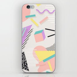80s / 90s RETRO ABSTRACT PASTEL SHAPE PATTERN iPhone Skin