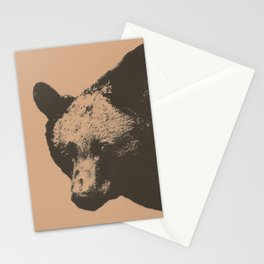 Bear face greeting Stationery Cards