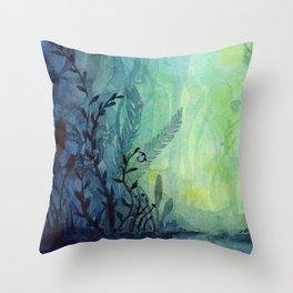 Ethereal Underwater Ocean Life Throw Pillow