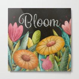 Bloom- Floral Pattern Metal Print