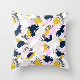 Strokes and abstract textures Throw Pillow