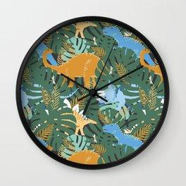 Jungle Dinosaurs Wall Clock