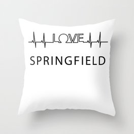 Springfield heartbeat. I love my favorite city. Throw Pillow