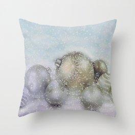 Romance of Christmas Throw Pillow