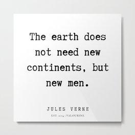 10    | Jules Verne Quotes | 200113 Metal Print