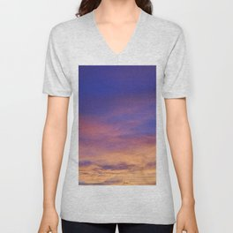 COME AWAY WITH ME - Autumn Sunset #1 #art #society6 Unisex V-Neck
