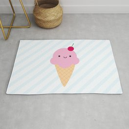 Kawaii Ice Cream Cone Rug