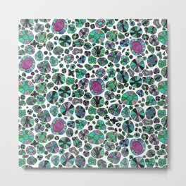 Barca Dots green/pink Metal Print