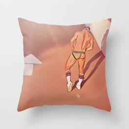 Boy On The Road Throw Pillow
